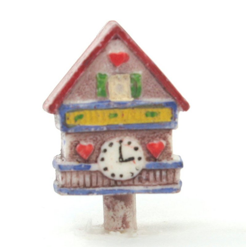 Vintage German Clock Charms  - 6 pcs - IV3-2525